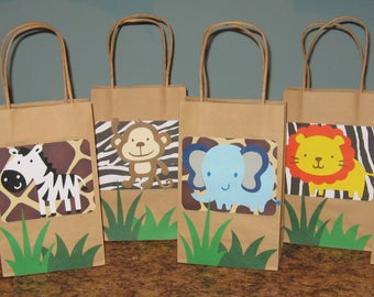 Safari Gift Bags - Set of 12