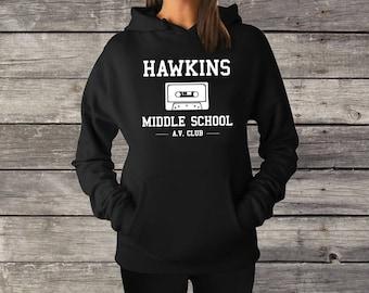 Hawkins Middle School AV Club - Stranger Things Sweatshirt/Hoodie - The Upside Down
