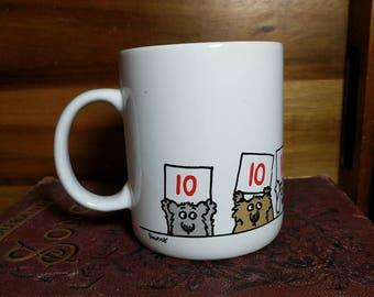 "Vintage Shoebox Greetings Hallmark Dogs and Cats ""You Did It!"" Mug"