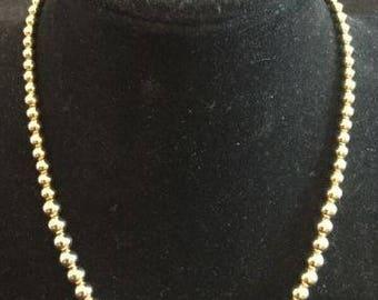 Vintage NAPIER Goldtone Graduated Bead
