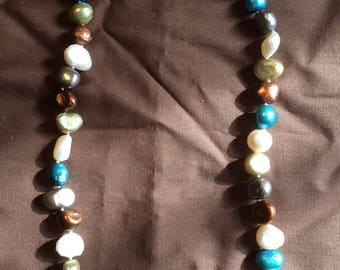 Multicolored Cultured Pearl Necklace