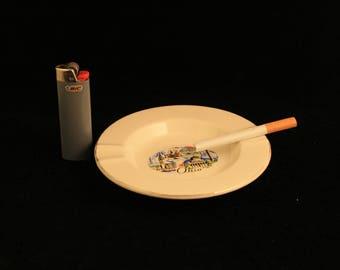 Vintage Ohio Ashtray Ceramic Collectible Travel Souvenir Gift