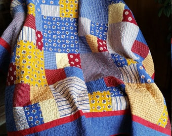 Red, Yellow, Blue Picnic Quilt