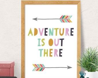 Adventure print, nursery wall art, modern nursery decor, cute print, baby gift, nursery wall decor, kids room decor, minimal, cute nursery