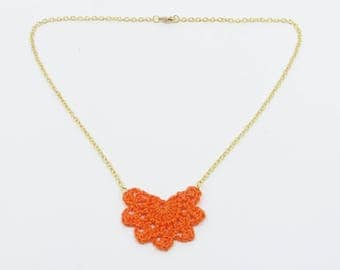"Small orange ""Andalusian"" necklace"