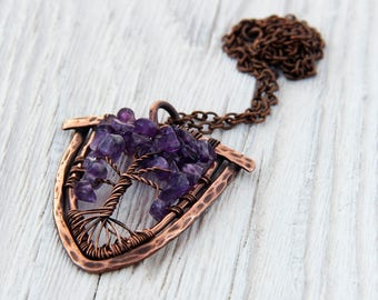 Tree of life necklace tree of life pendant tree of life jewlery wire tree necklace tree of life necklaces copper jewlery wire jewlery copper