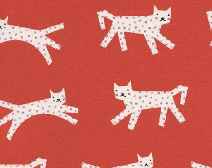 Noel by Cotton + Steel - Leopards Red - Cotton Woven Fabric