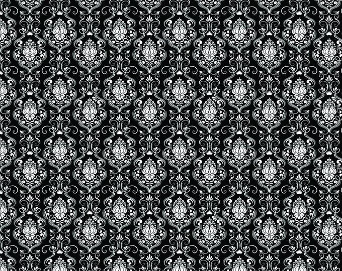 Happy Halloween by Patrick Lose - Damask Black - Cotton Woven Fabric