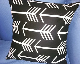 Monochrome arrow cushion cover