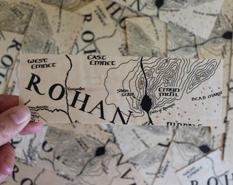 Rohan Bookmark / Map / Free US Shipping