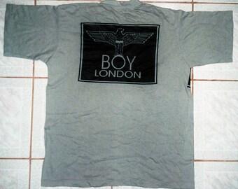 RARE VINTAGE BOY london eagle punk rock pop seditionaries designer glam t shirt