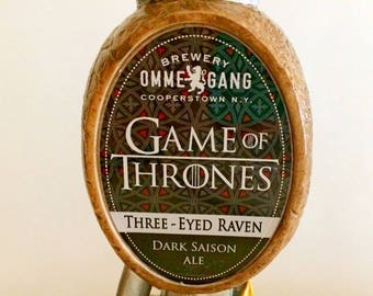 Game of Thrones Tap Handle Three Eyed Raven Ommegang Brewery-New In Box-Very Rare Westeros-Medieval Mother of Dragons  -Beer Tap-Keg Tapper