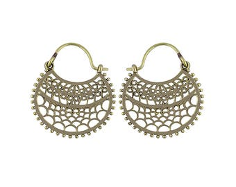 Bohemian brass earrings II