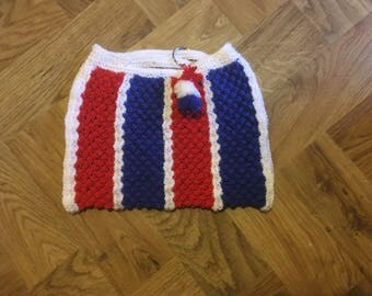Knitted Handbag with keychain