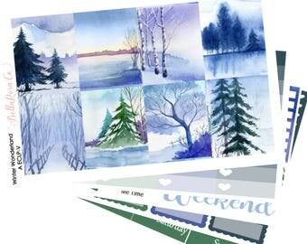 Winter Wonderland- Erin Condren Sticker Kit