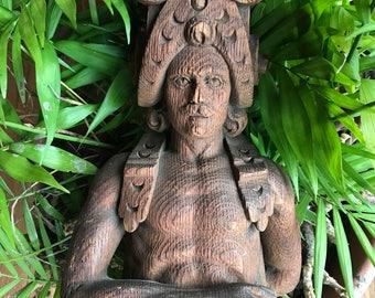 Wooden Man Carving - Oak - carved Conquistador - Spain -Spanish  FOLK ART - Figural - Sculpture - Wood - Vintage Antique