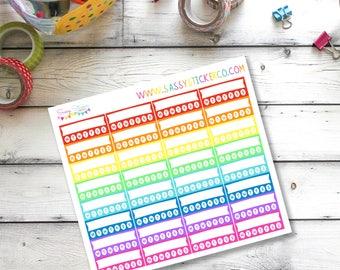 Large Habit Tracker Sidebar Planner Stickers for Erin Condren Life Planner