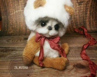 Teddy bear vintage style by Zanina Julia (za_nusha). Plush toy.