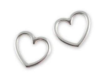 4 silver heart ring fantaisie17mmx15mm