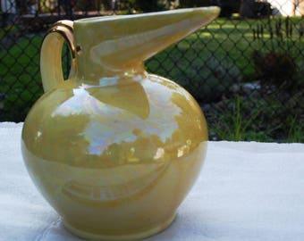 Yellow Ware Pelican Pitcher