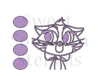 Cat PYO Cookie Stencil
