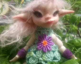 OOAK BJD Art Doll Fairy Elv Mali