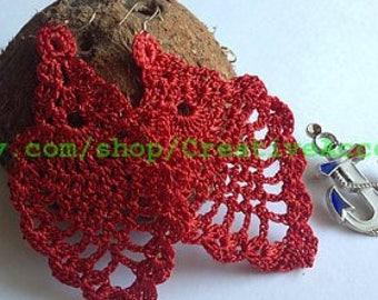 10. ONE Crochet Earrings Pattern,  PDF File - Crochet Beautiful Trendy Pineapple Earrings - PDF, easy pattern for beginners
