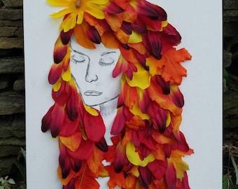 Daughter Autumn, original artwork 12×20