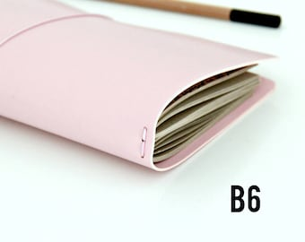 B6 Travelers Notebook // Fauxdori Cover// Midori Travelers Notebook Cover // Midori Cover / Journal Pretty Pale Pink, various size options