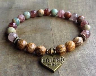 Bohemian bracelet boho chic bracelet boho bracelet gemstone bracelet gypsy womens jewelry rustic bracelet boho chic jewelry gift for her
