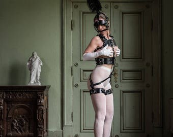 Zee Body Harness + Bridle Harness with Plume