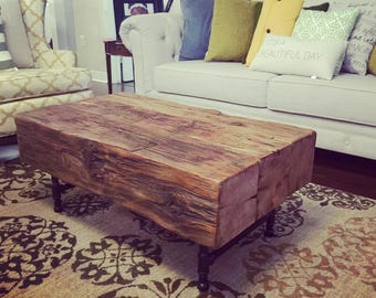 Handmade Rustic Wood Coffee Table Sets Available