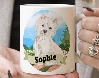 Westie Custom Dog Mug - Get your dogs name on a mug - Dog Breed Mug - Great gift for dog owner - Westie mug