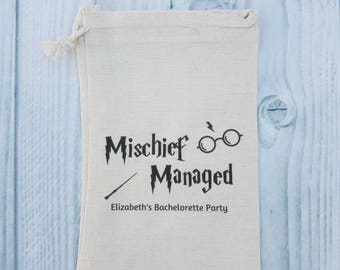 10 Bachelorette Party Favor, Hangover Kit, Survival Kit, Recovery, Emergency Kit , Birthday, Bachelorette Party Bags - Harry Potter Mischief