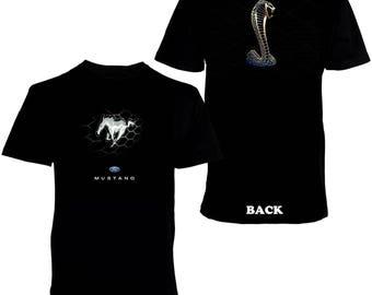 Ford Mustang Shelby Cobra Men's Printed T-shirt
