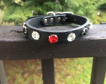 Swarovski crystal pet collar