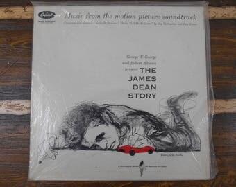 The James Dean Story Motion Picture Soundtrack George W George Vintage Vinyl Record LP 1957