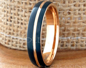 Custom Order / 5mm Tri Color Tungsten Band Size 4.5