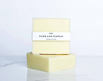 Pure and Simple | All Natural Handmade Soap | Unscented | Sensitive Skin Soap | Eco-Friendly Soap | Cold Process Soap