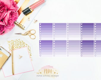 10 April Ombre Checklist Stickers   Planner Stickers designed for use with the Erin Condren Life Planner