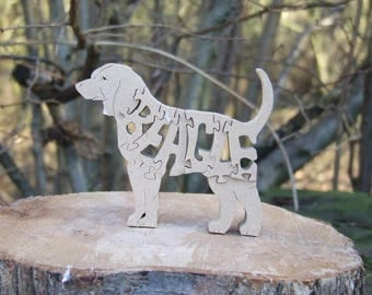 Beagle jigsaw, Beagle puzzle, Beagle ornament, Beagle gift, gift for Beagle lovers, Beagle memorial, unique Beagle gift, Beagle memorial