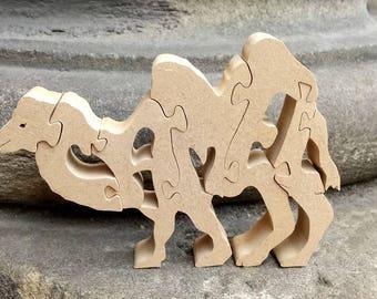 Bactrian camel jigsaw ornament