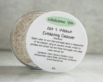 Oat & Walnut Exfoliating Cleanser + Facial Wash + Facial Cleanser