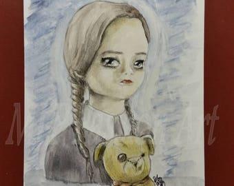 "Original postcard ""Girl"" card"