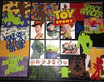 TOY STORY Scrapbook kit!!  Disney  Pixar Buzz Lightyear  Woody Jessie, Project Life, Scrap kit, Scrapbook Paper, Die Cuts