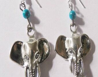 Earrings zen elephants
