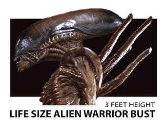 Horror Prop Alien warrior Bust.