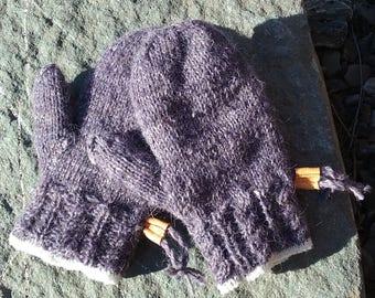 Hand Spun Pure Wool Ladies Mittens