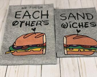 Disney couple shirts - we finish each other's sandwiches - Disney best friend shirts - Disney family shirts - Disney best friend shirts