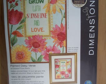 """Dimensions Counted Cross Stitch Kit,""""Painted Daisy Verse"""", #70-35303, Unopened"""